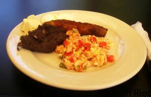 Typical Breakfast (desayuno tipico), Apaneca, El Salvador