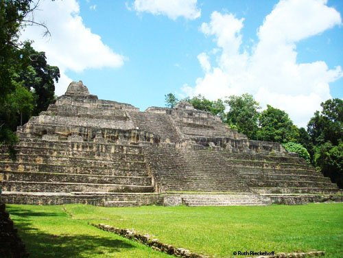The greatest structure of the site, Caana.  The picture does not make it justice.  This pyramid is enormous.