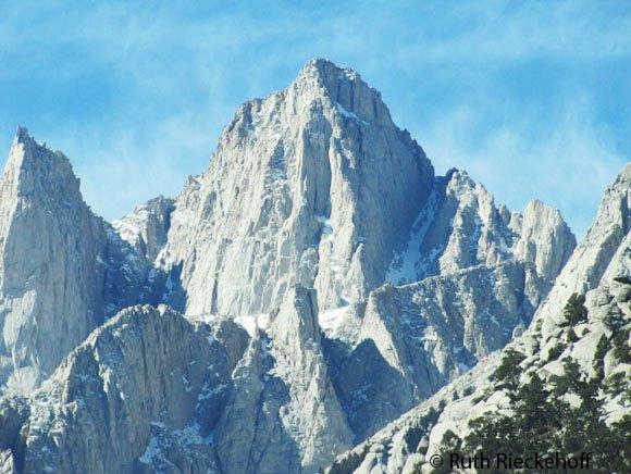Close up of Mount Whitney