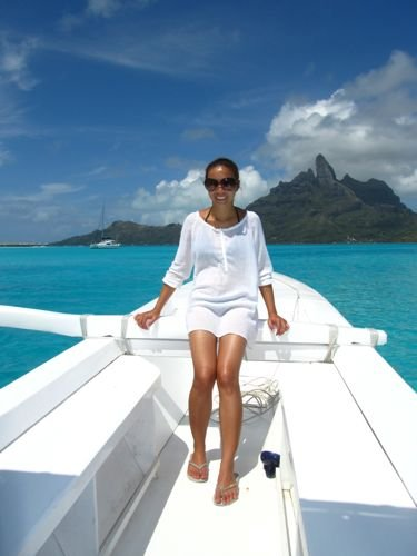 Diana in Bora Bora