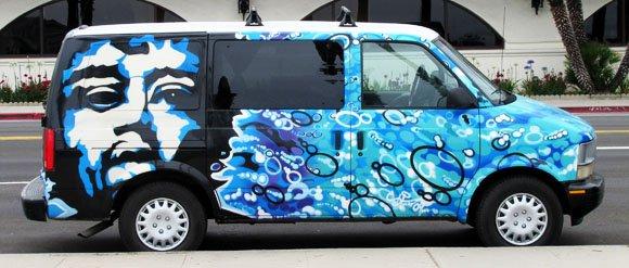 Colorful Van in Santa Barbara's Waterfront