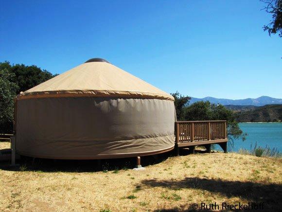 Yurt Cachuma Lake Santa Barbara County California