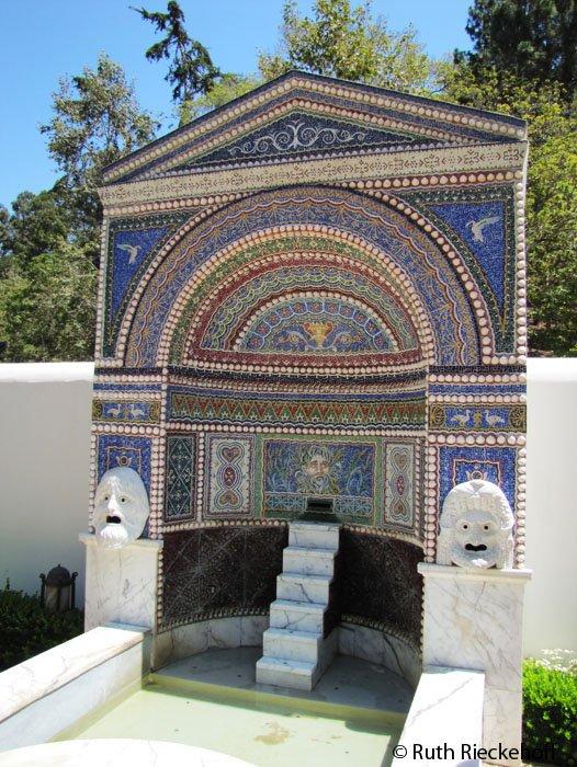 The Fountain At The East Garden Getty Villa Malibu