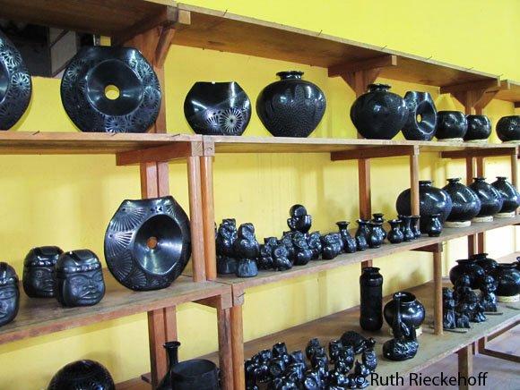 Black clay figures