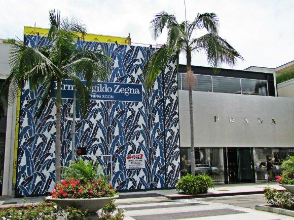 Prada and Ermenegildo Zegna Stores, Rodeo Drive, Beverly Hills, California