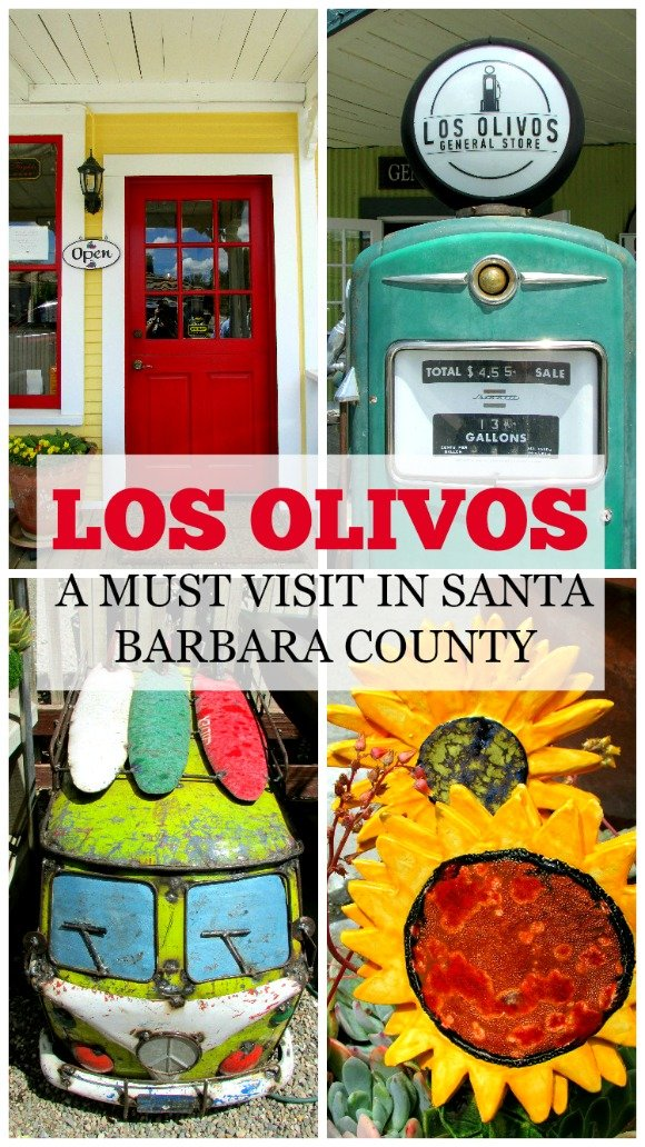 Los Olivos, a tiny town on the Santa Ynez Valley, is a must visit in Santa Barbara County.  Its wine tasting rooms and restaurants will delight visitors