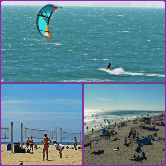 Huntington Beach Scenes (Kite Surfing, Volleyball), California