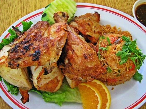 Thai BBQ Chicken, Sapp Coffee Shop, Thai Town, Los Angeles, California