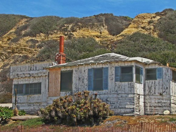 Non restored cottage, Historic District, Crystal Cove, Laguna Beach, California