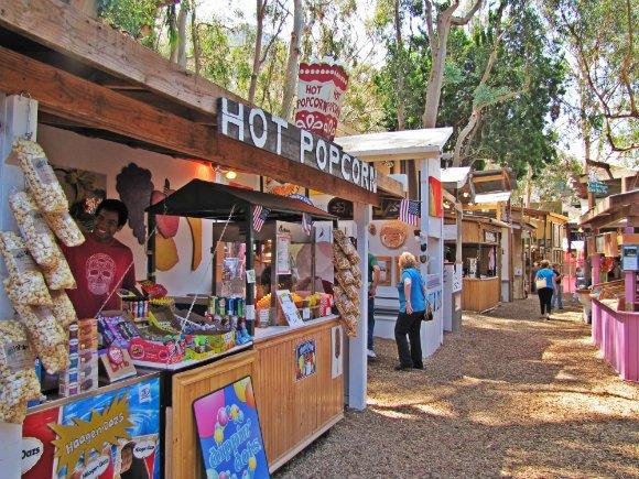 Booths and forested settings, Sawdust Art Festival, Laguna Beach