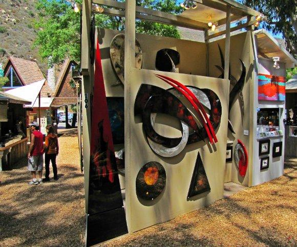 Unusual and creative works of art, Sawdust Art Festival, Laguna Beach, California