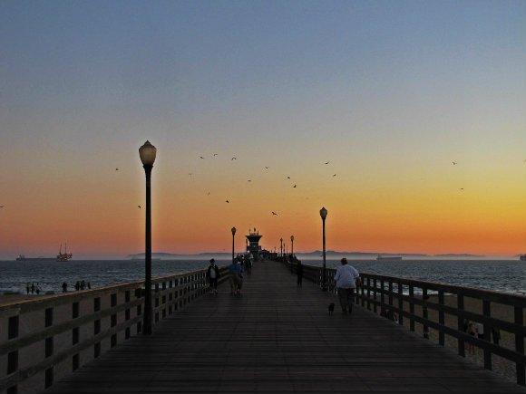 Seal Beach Pier at Sunset, Seal Beach, California