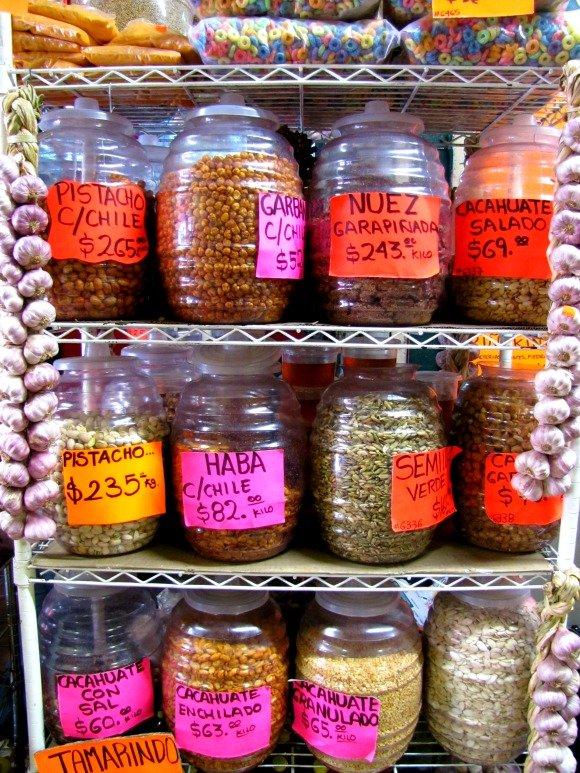 Nuts and grains, Mercado Hidalgo, Tijuana, Mexico
