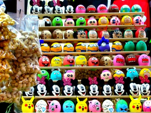 Painted egg shells, Mercado Hidalgo, Tijuana, Mexico