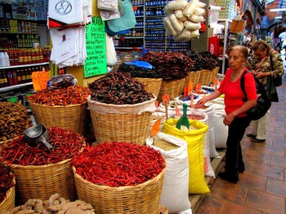 Chiles, Mercado El Popo Tijuana, Mexico