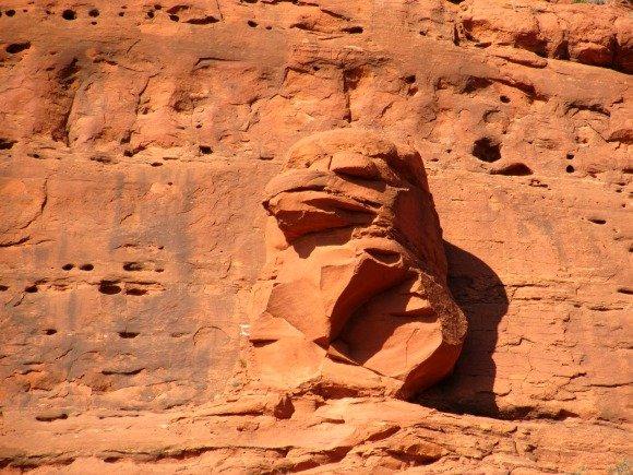 The Eagle, protector of the Chapel Road of the Holy Cross, Sedona, Arizona