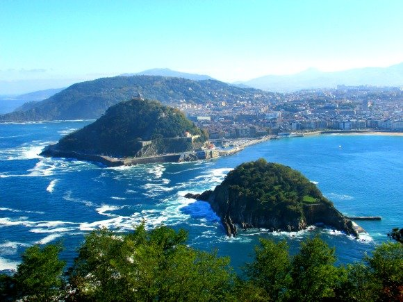 San Sebastian, Boardwalk, Sea, Basque Coast, Spain, Monte Igueldo