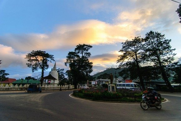 Sunset in Nuwara Eliya, Sri Lanka
