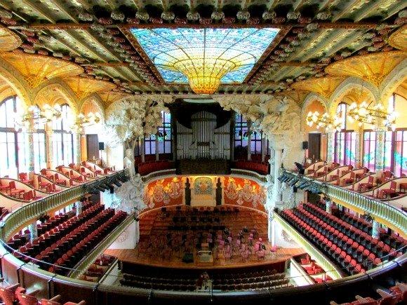 Palau de la Musica Catalana, Modernism, Barcelona, Spain