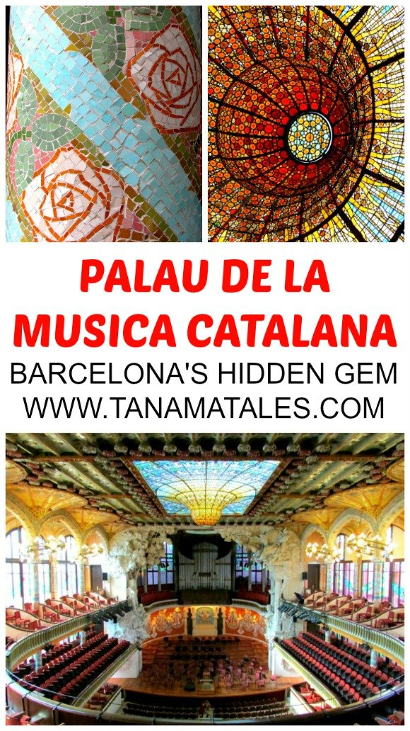 The Palau de la Musica Catalana is a concert hall designed in a Modernist style by the architect Lluis Domenech i Montaner.