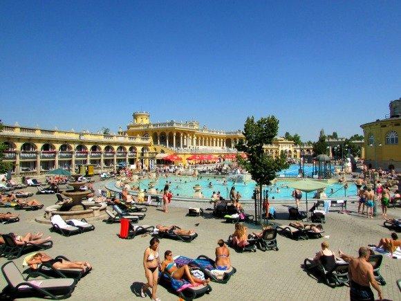 Széchenyi Thermal Baths, Yellow Zebra Bike Tours, Budapest
