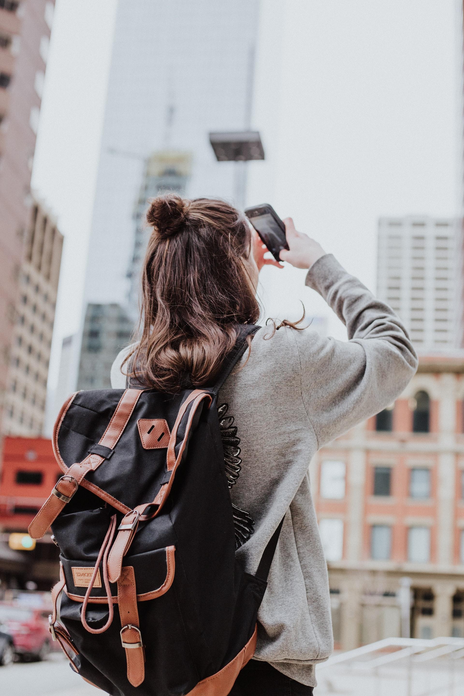 Traveler taking a photo