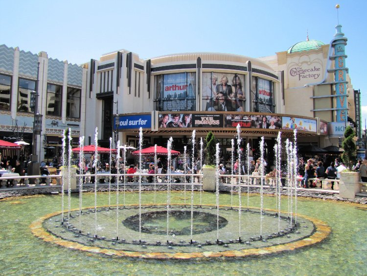 Dancing fountain at The Grove, Los Angeles