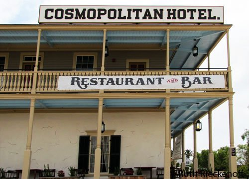 Close up of the Cosmopolitan Hotel
