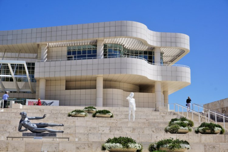 The main facade, The Getty Center, Los Angeles