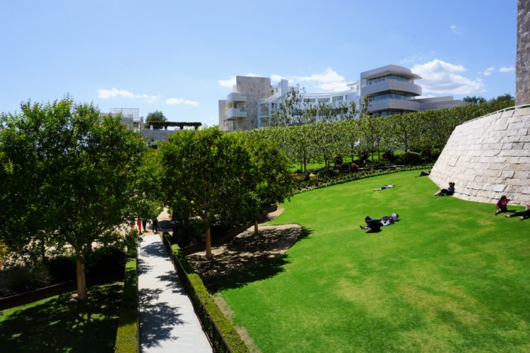 The Getty and its garden, Los Angeles, California