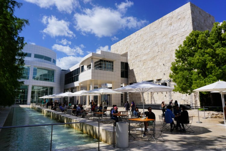 The main courtyard, Getty Center, Los Angeels