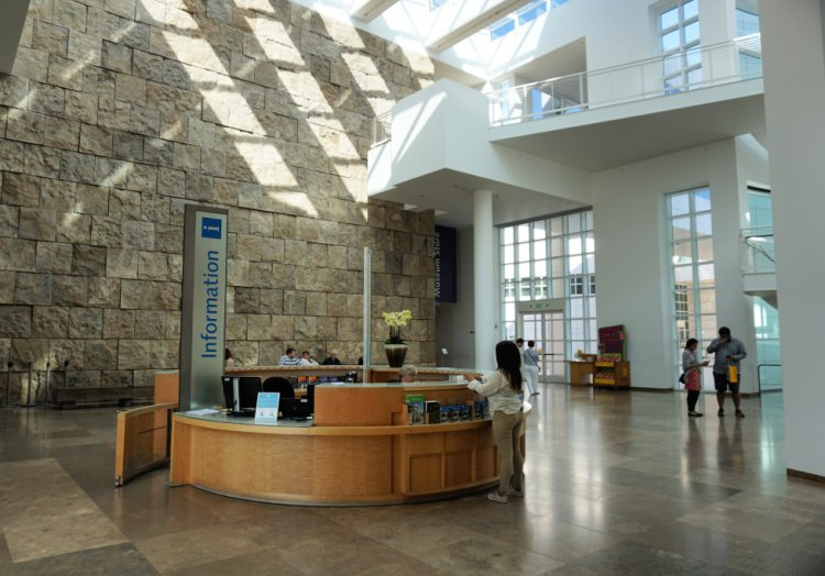 Museum entrance hall, The Getty Center, Los Angeles, California