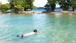 Snorkeling around Cayo Algodones (Cotton Key or Caye)