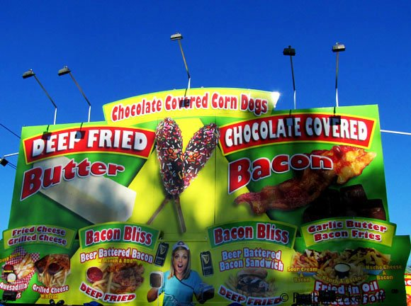 Wide selection of foods to clog your arteries