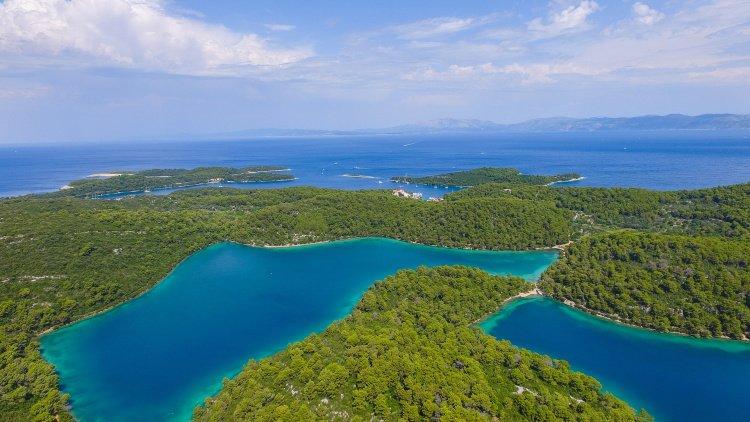 Aerial view of Croatia