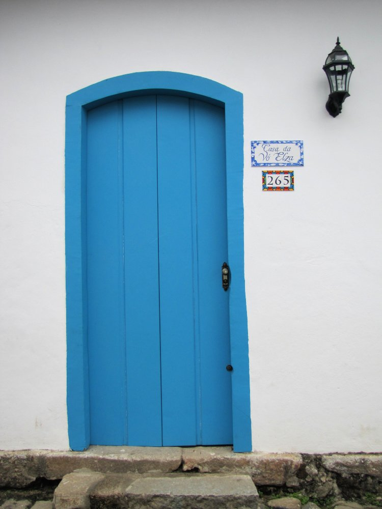 Blue door in Paraty, Rio de Janeiro (Brazil)