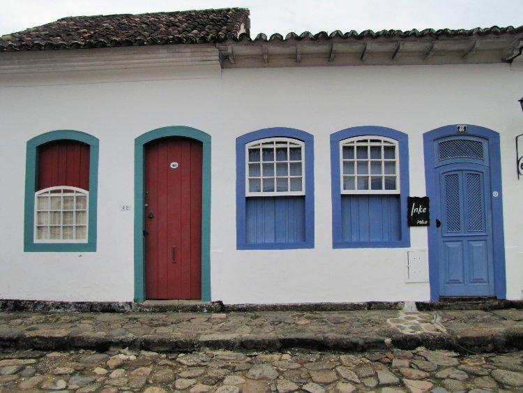 Door and window in Paraty, Rio de Janeiro (Brazil)