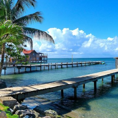 Pier in a tropical island in Honduras, Most Insane Moments I Have Experienced During my Travels
