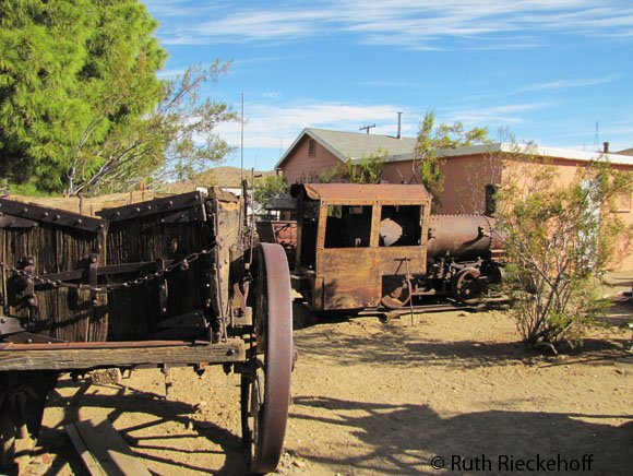 Old train and cart