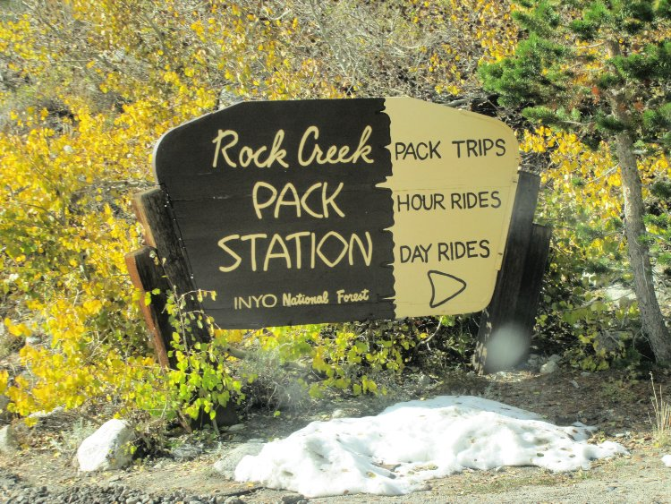 Rock Creek Pack Station SIgn