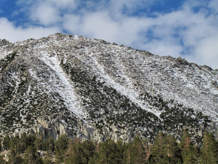 Snowed peak in Rock Creek, California