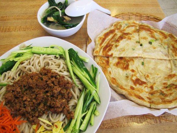 Enjoying some Asian food
