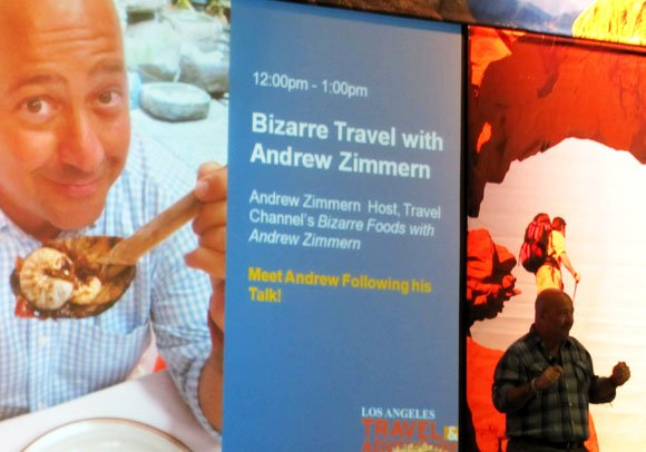 Andrew Zimmern at the LA Travel and Adventure Show