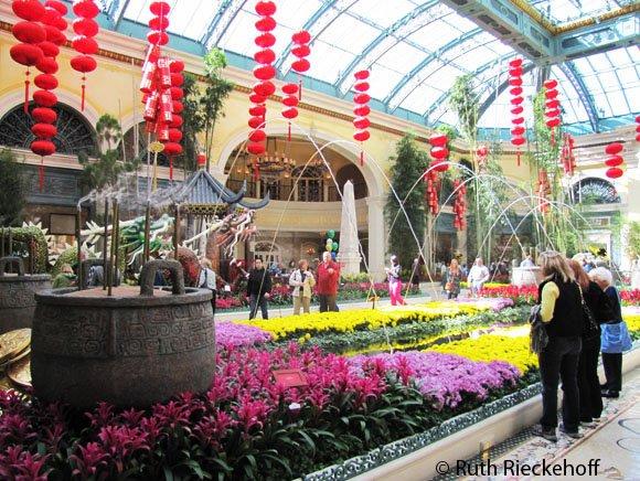 Chinese New Year Decorations, Bellagio, Las Vegas, Nevada ...