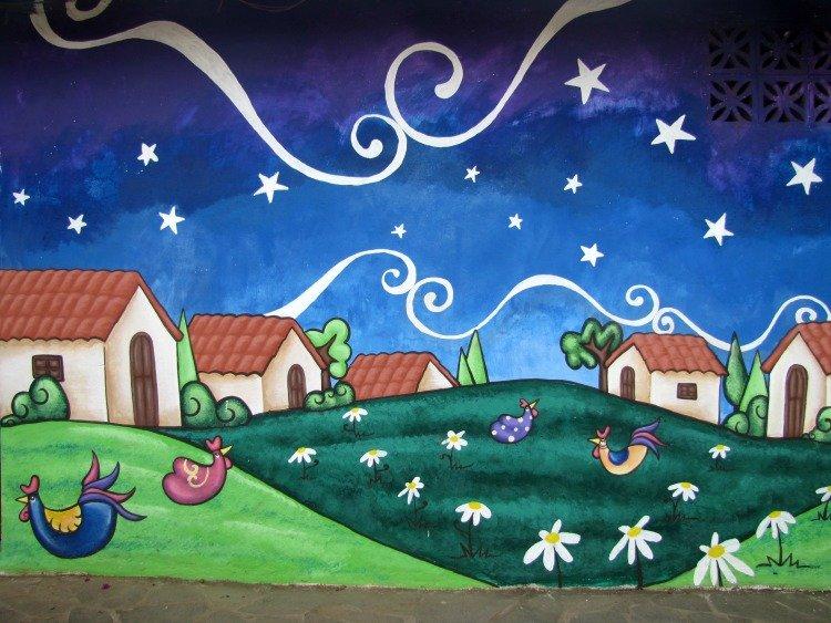 Concepcion de Ataco El Salvador, Mural