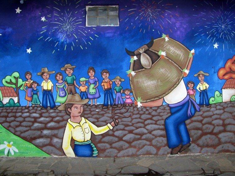 Torito Pinto, Mural, Concepcion de Ataco El Salvador