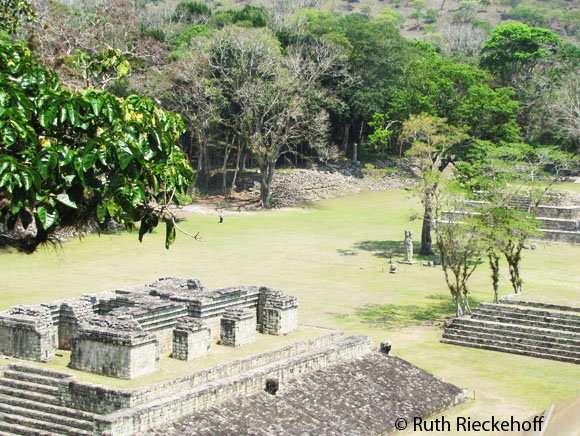Main Plaza seen from the top of the acropolis