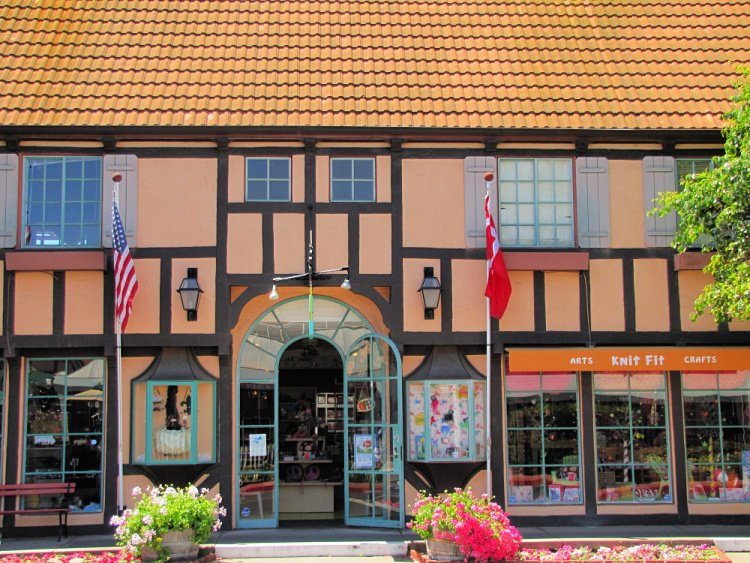 Half-timbered houses in Solvang, California