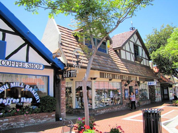Houses in Copenhagen Drive, Solvang, California
