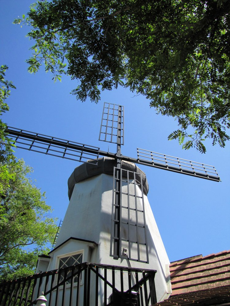One of the windmills at Solvang, California